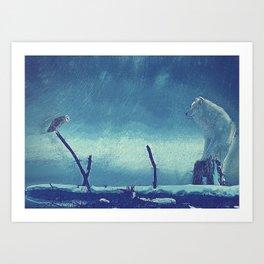 wolf canvas Art Print