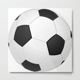Soccer ball Metal Print