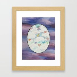 Escape from the Balloon Animal Zoo Framed Art Print