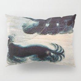 Dynamism of a Dog on a Leash, Vintage Minimalist Art Pillow Sham