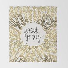 Treat Yo Self – Gold Throw Blanket