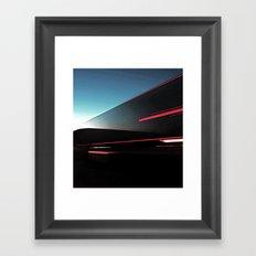 Lights Cutting Through the Sky Framed Art Print