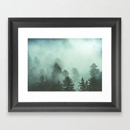 Magnificent Morning - Foggy Redwood Forest Nature Photography Framed Art Print