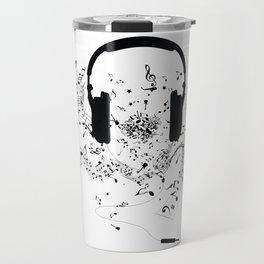 Headphones and Music Notes Travel Mug