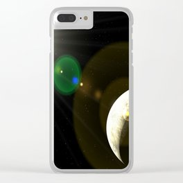 moon lens flare Clear iPhone Case