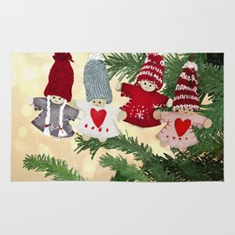 Christmas tree dolls Rug