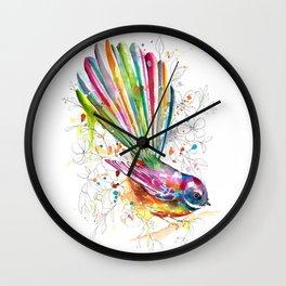 Sketchy Fantail Wall Clock