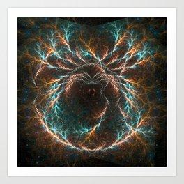Spiral Nebula Mandala Art Print