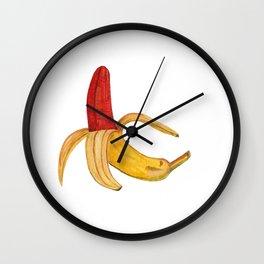 Red Banana Wall Clock