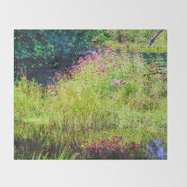 Monet's creek Throw Blanket