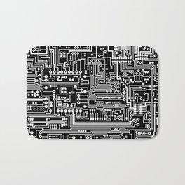 Circuit Board on Black Bath Mat