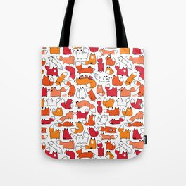 Foxy Foxes Doodle Tote Bag