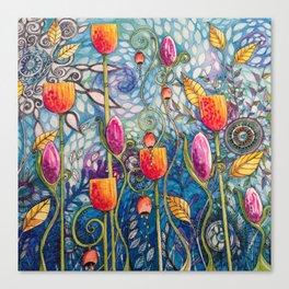 Flowers flow Canvas Print