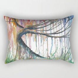 Raining Rainbows Rectangular Pillow