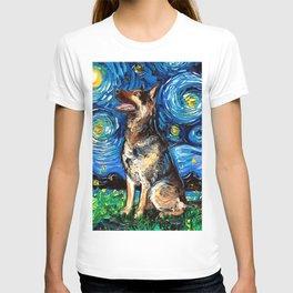 German Shepherd Night 2 T-shirt