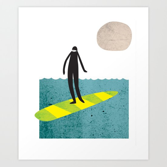 Dude Boarder Art Print