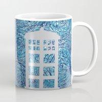 tardis Mugs featuring Tardis by Sahara Novotny