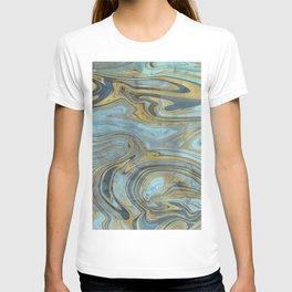 Liquid Teal and Gold T-shirt