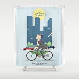 Tour de Finance Shower Curtain