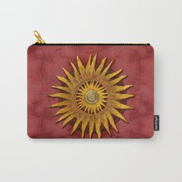 """Aztec Sun and pickled coral"" Carry-All Pouch"