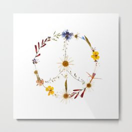 Peace flowers Metal Print