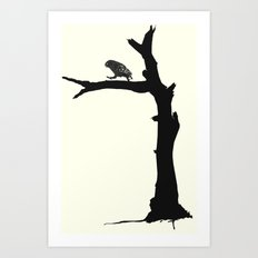 The Little Owl In The Tree Art Print