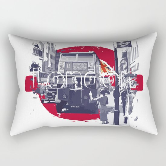 London 1930s Rectangular Pillow
