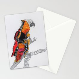 Perroquet rouge Stationery Cards