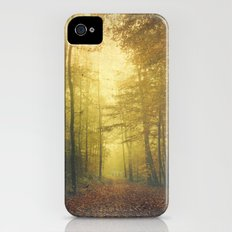fall morning forest iPhone (4, 4s) Slim Case