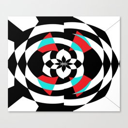 Stripe Me Spiral Canvas Print