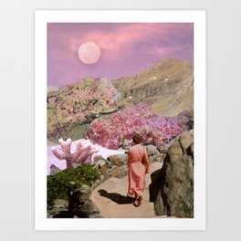 Path to pink moon Art Print
