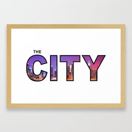 The City - Version 10 Framed Art Print