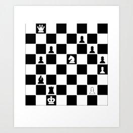 20% OFF ! Byrne vs Bobby Fischer 1956 - Chess Game Art Print