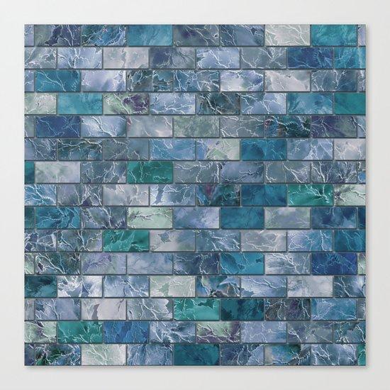 Frozen Leaves Tile Pattern Canvas Print