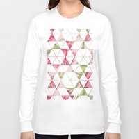 quilt Long Sleeve T-shirts featuring Flora Quilt by Michaela Palmer