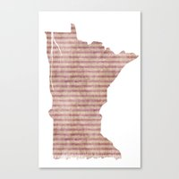 minnesota Canvas Prints featuring Minnesota by Michelle