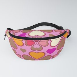 Hearts Flower Creation 2 Fanny Pack