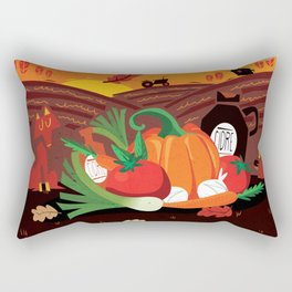 Un après-midi à la ferme : automne Rectangular Pillow