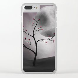 Midnight Peach Clear iPhone Case