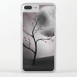 Midnight Peach Clear iPhone Case