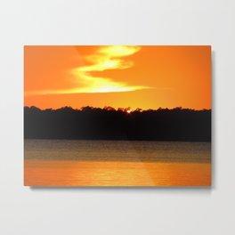 Sunset over lake June Florida Metal Print