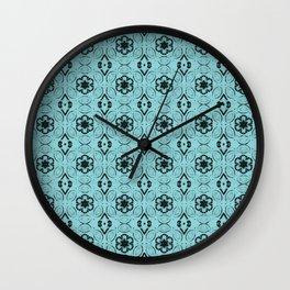 Island Paradise Floral Geometric Pattern Wall Clock