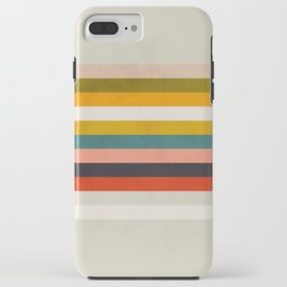 modern abstract stripe geometric iPhone Case