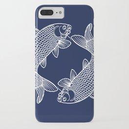 Navy Blue Koi iPhone Case