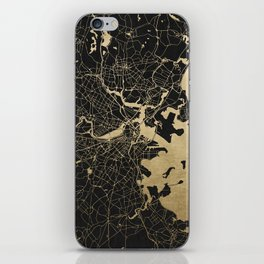 Boston Gold and Black Invert iPhone Skin