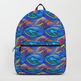 Colorful  blue scales Backpack