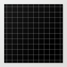 Black Grid /// www.pencilmeinstationery.com Canvas Print