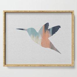 Pastel Hummingbird Serving Tray
