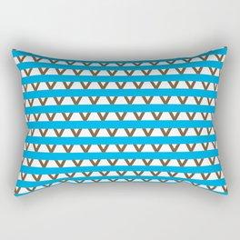 Paranoia (Baby Blue and Brown) Rectangular Pillow