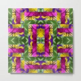 Tropical Quilt I Metal Print